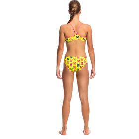 Funkita Racerback Two Piece Bikini żółty/kolorowy